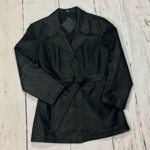 Jacqueline Ferrar ~ Belted Leather Jacket